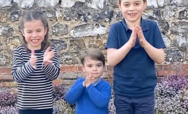 The Cambridges broke a significant piece of royal protocol in that clapping video - and it was all to do with Prince Louis' trousers
