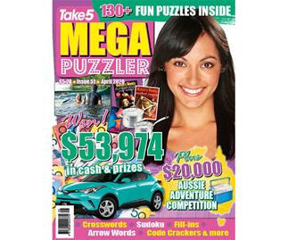 Take 5 Mega Puzzler Issue 51 Online Entry Coupon