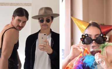 Matty J and Laura Byrne's hilarious self-isolation videos are seriously getting us through quarantine right now