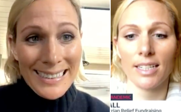 Zara Tindall gives an unexpected insight into her family home with two live TV interviews from isolation
