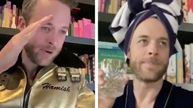 Hamish Blake's funniest gatecrashed Zoom meetings