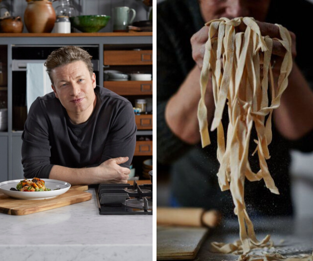 We tried Jamie Oliver's two-ingredient pasta  and it's the perfect isolation recipe for any skill level