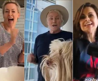 WATCH: Rebecca Gibney leads an all-star Aussie cast in a heartwarming rendition of Love Is In The Air