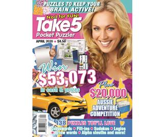 Take 5 Pocket Puzzler Issue 188 Online Entry Coupon