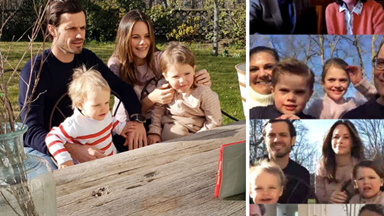 The Swedish royal family celebrate Easter together like many families across the world - via a video call