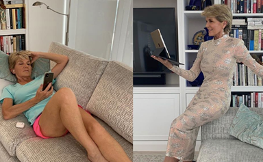 Fashion-forward Julie Bishop gives fans a realistic insight into what her working-from-home wardrobe actually looks like