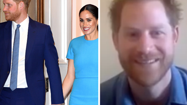 Prince Harry appears for the first time since moving to LA with a heartwarming video call back home