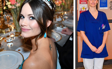 Princess Sofia of Sweden swaps her tiara for medical scrubs as she reports for duty at a local hospital to help fight the coronavirus outbreak
