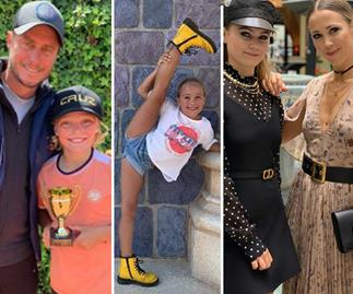 Triple threat! The best photos of Bec and Lleyton Hewitt's three kids