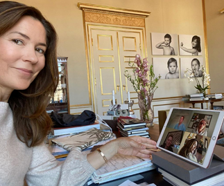 Crown Princess Mary provides a rare glimpse of her WFH set-up, and she's wearing the perfect at-home outfit
