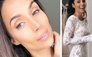 Snezana Wood shares unseen candid photos of her stunning $10,000 custom wedding dress