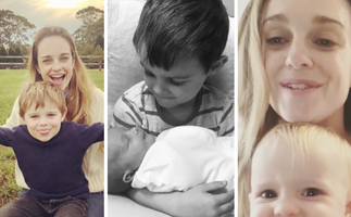 Home and Away's Penny McNamee has two kids who will steal your heart in 27 pictures