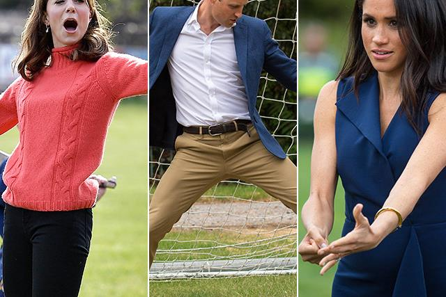 Game faces, but make it graceful: The elegant art of competitive sporting, as shown by the royals