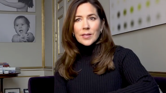 Crown Princess Mary shares a rare and personal video from her home office to mark a special occasion