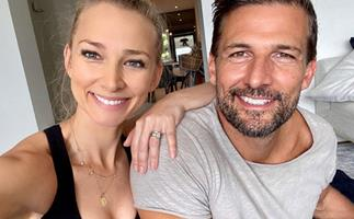 Anna Heinrich and Tim Robards filmed their families' reactions to her pregnancy news - and it's too pure for words