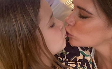 Victoria Beckham's latest photo of Harper Seven features an unexpected hack for parents home-schooling their kids