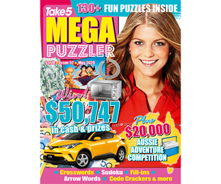 Take 5 Mega Puzzler Issue 52 Online Entry Coupon