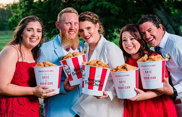 Kentucky fried bride: I had a KFC themed wedding!