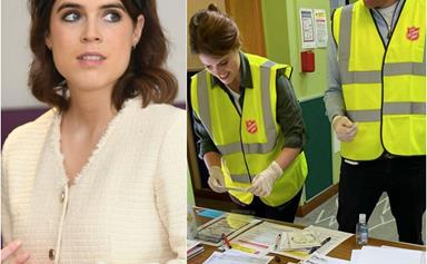 """We jumped at the chance"": Princess Eugenie and husband Jack ditch their glad rags and get stuck into an important cause"