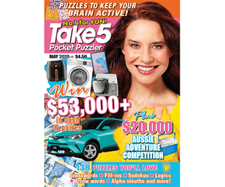 Take 5 Pocket Puzzler Issue 189 Online Entry Coupon
