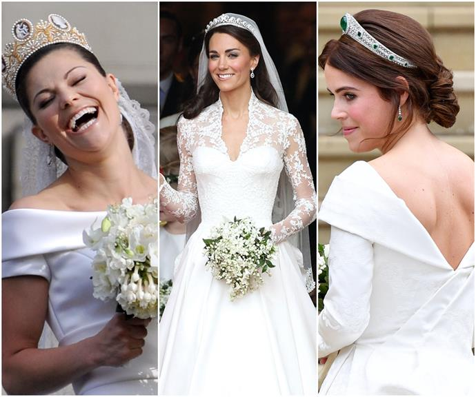 Sleeves, boat necks and instant cult followings: The best royal wedding dresses in history