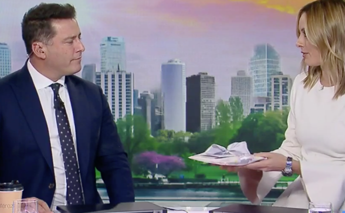 The Today show team just brought new dad Karl Stefanovic to tears with the sweetest gift for daughter Harper