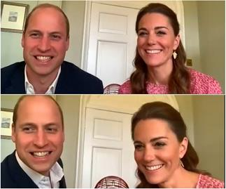 Duchess Catherine and Prince William make royal history... by playing bingo in a video call