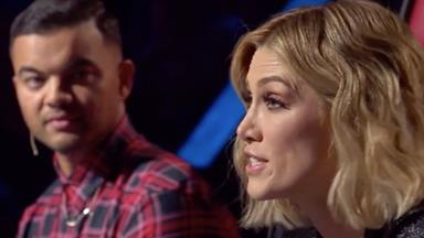The Voice star Delta Goodrem at breaking point after awkward onscreen run in with Guy Sebastian
