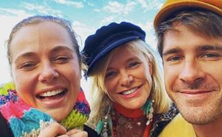 Jessica Marais & best friend Hugh Sheridan share a colourful update from their day together after a turbulent month