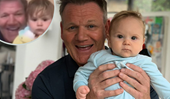 This pop star had the best reaction to Gordon Ramsay's adorable baby son crashing their live TV interview