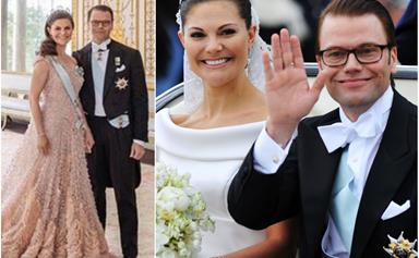 The Swedish Palace share jaw-dropping new photos of Crown Princess Victoria in three stunning gowns for her anniversary with Prince Daniel