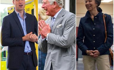 The British royals emerge from isolation for the first time after three months in lockdown - and there's a whole new normal