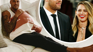 """Buddy Franklin gushes about his """"amazing"""" wife Jesinta and newborn daughter in rare personal interview"""