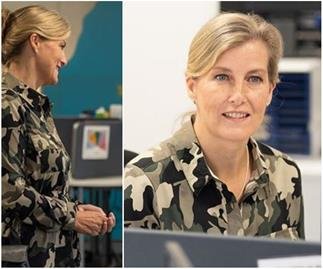Sophie, Countess of Wessex goes off royal fashion's beaten track by wearing an unexpected camouflage dress - and she pulled it off to perfection