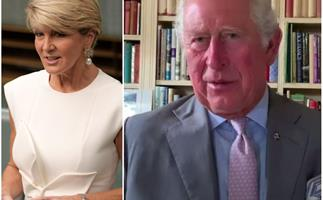 Prince Charles teams up with Julie Bishop as he addresses hard-hit communities across Australia in a stirring new video message