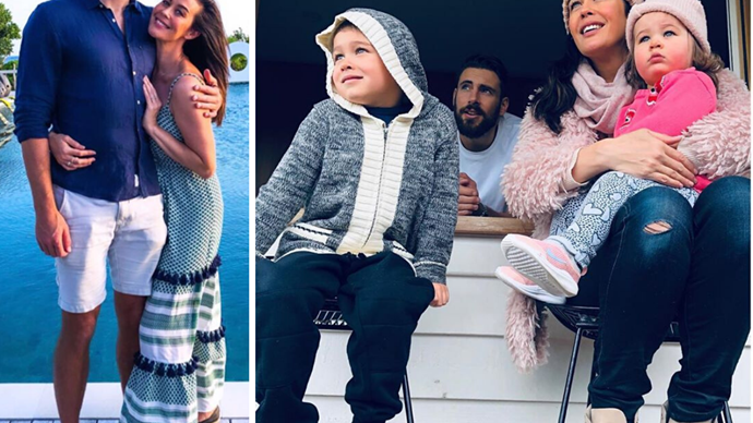 IN PICTURES: Megan Gale and fiancé Shaun Hampson's cutest family moments