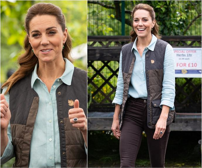 Duchess Catherine's first post-lockdown outfit is the ultimate work-and-leisure look