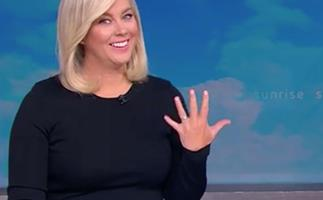 Sunrise's Samantha Armytage shows off her incredible engagement ring as she reveals how Richard Lavender proposed