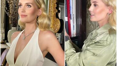 Princess Diana's niece Lady Kitty Spencer has an at-home isolation wardrobe that may as well be on the Oscar's red carpet