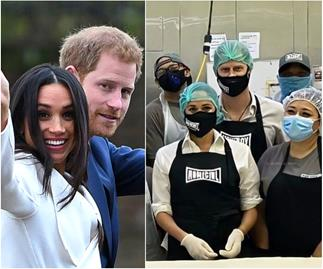 Prince Harry & Duchess Meghan spotted for the first time in weeks as they help volunteers in LA