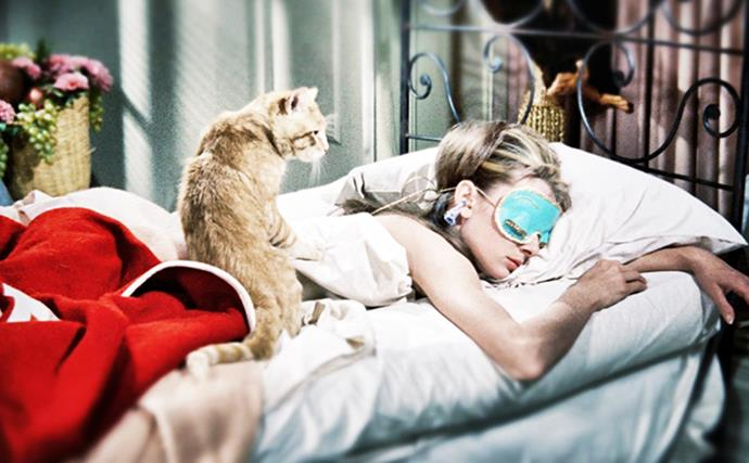 Audrey Hepburn sleeping
