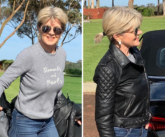 Julie Bishop shows off her brand new post-iso hair transformation