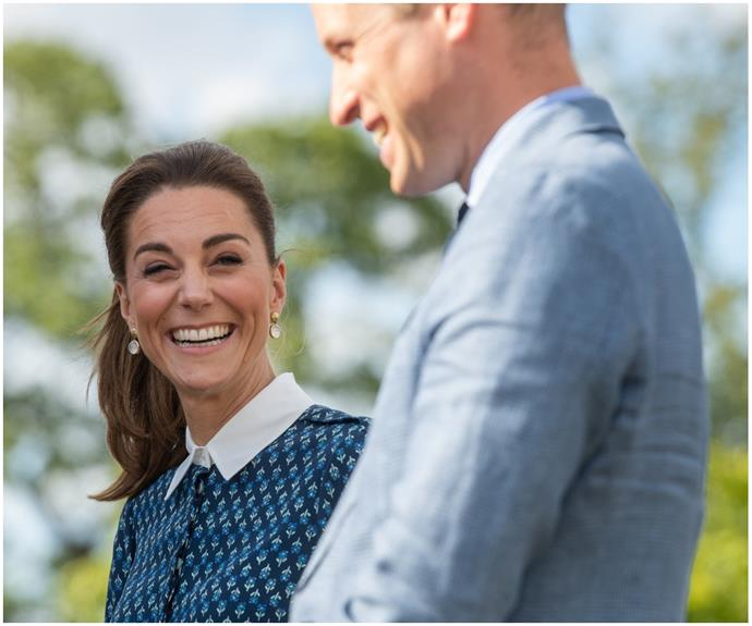 Kate & William purposely matched outfits during their first joint outing post-lockdown - and there's a sweet reason why