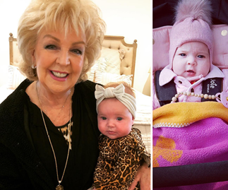 "Patti Newton's cute new photo of ""darling"" granddaughter Perla"