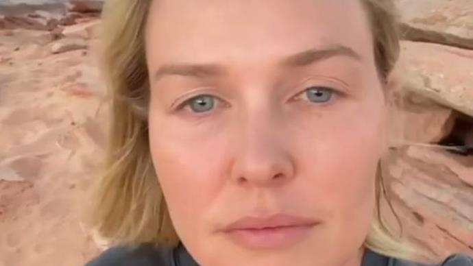 New mum and model Lara Worthington bares all in a raw and rare new clip to promote her non-profit makeup brand
