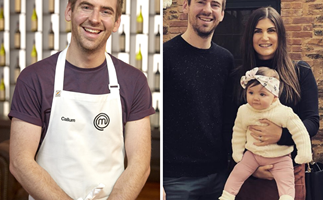 """Eliminated MasterChef star Callum Hann's wife posts a lovely photo tribute to """"the best husband and father"""""""