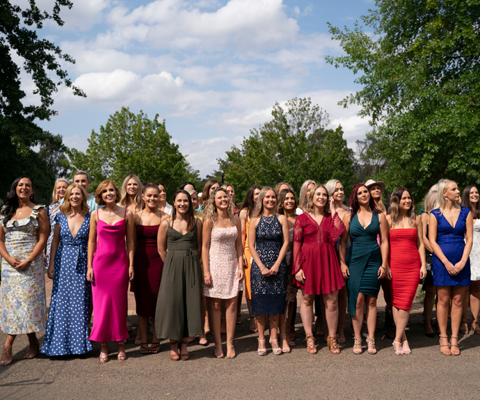 The 40 women looking to find love on the 2020 season of *Farmer Wants A Wife*.