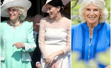 Duchess Camilla takes a fashion cue from Duchess Meghan in new birthday image - though not in the way you'd expect