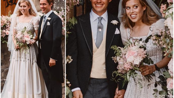 FIRST PHOTOS: Princess Beatrice wore a gorgeous vintage gown belonging to Queen Elizabeth for her private wedding