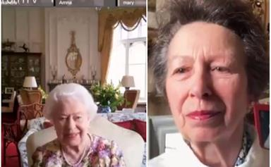 Footage of Princess Anne's fumbly Zoom call with her mother, The Queen, will warm your heart